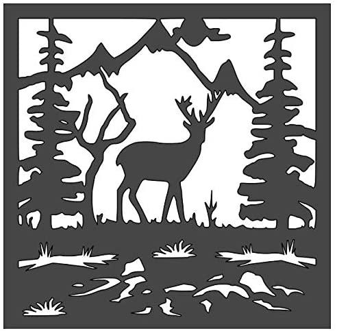 Deer Stencil 1-5.5x5.5 inch Custom Cut Reusable Stencil Drawing Template Flexible Clear Plastic Sheets 0.15mm Thick SL-423