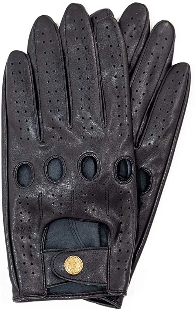Riparo Women's Vegan Leather Full-finger Driving Touchscreen Gloves