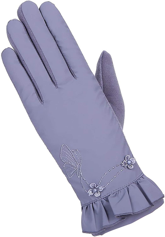 Women Winter Warm Fleece Gloves Windproof Gloves Full Finger Glove for Women Girls Winter Using