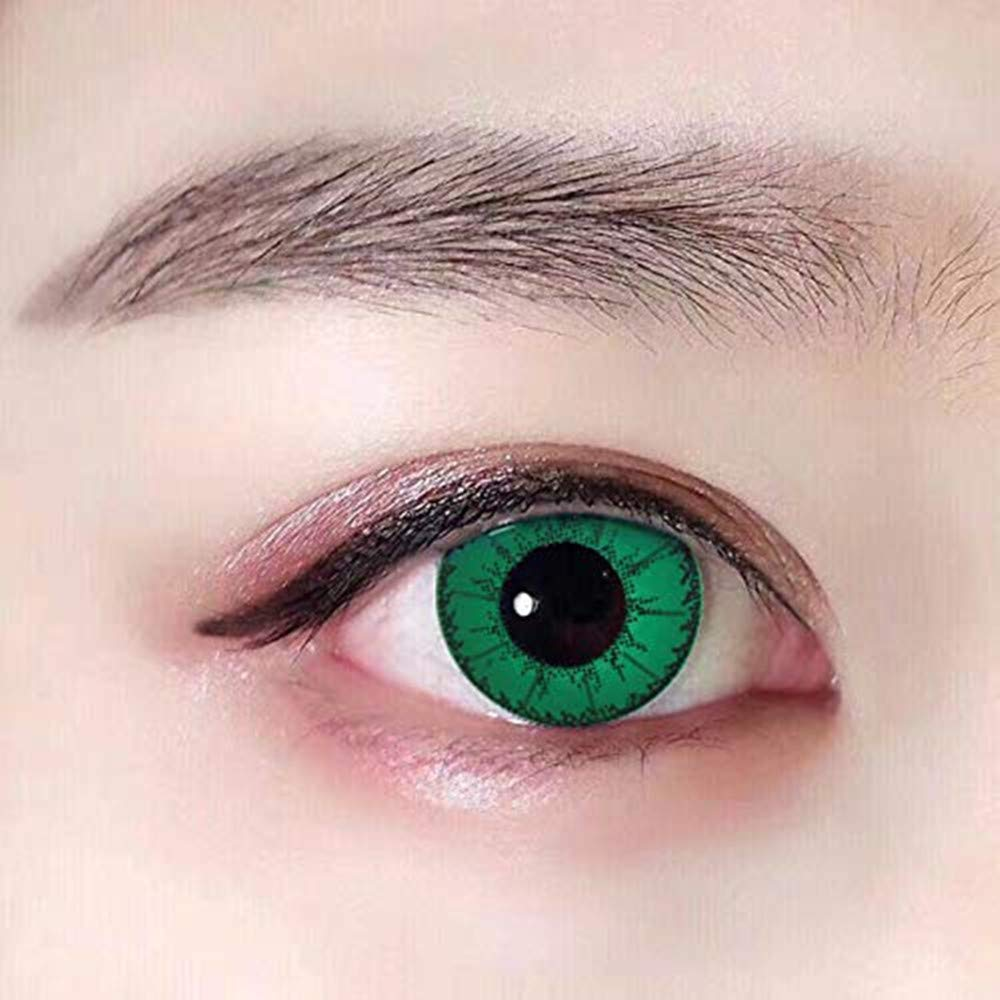 Eye Makeup for Party, Cosplay, Fashion Show, Halloween (Green)