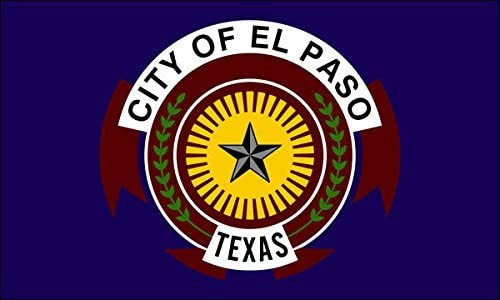 City of El Paso Flag Sticker (texas decal)