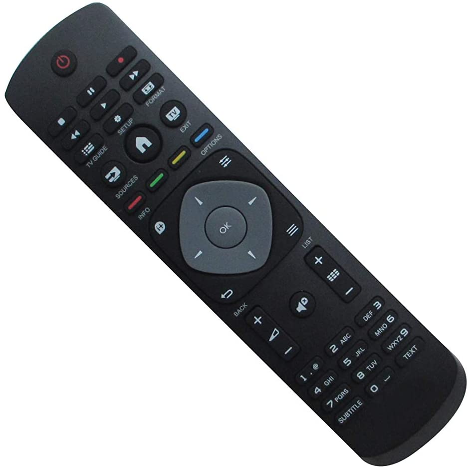 Remote Control for Philips 23PHH4009/88 50PFH4109/88 32PFK5109/12 32PHH4309/88 23PHT4009/12 23PHH4109/60 40PFH4009/12 Smart LED HDTV TV