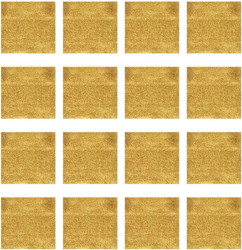 Exceart 300pcs Gold Leaf Sheets Metallic Foil Paper Sheets for Arts Gilding Crafting Decoration