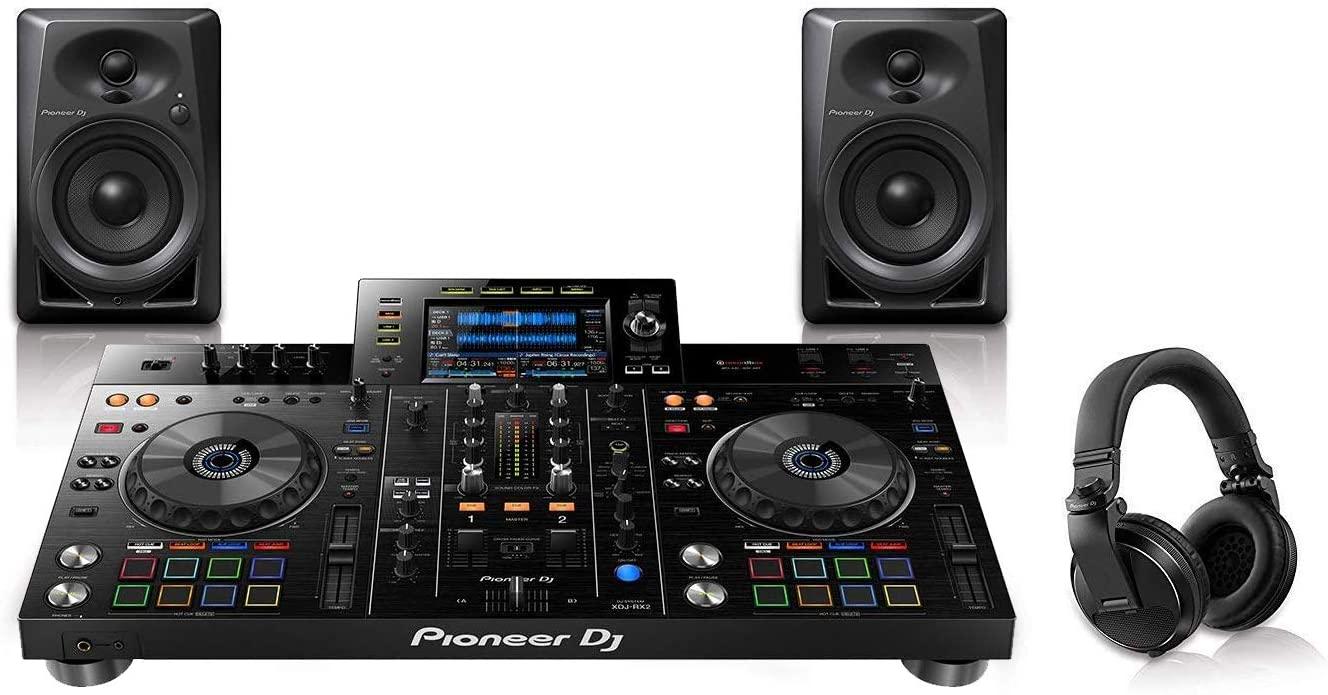 Pioneer Pro DJ Bundle with XDJ-RX2 + DM-40 Set + HDJ-X5 Headphones
