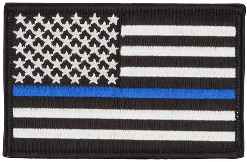 Thin Line American Flag Embroidered Patch