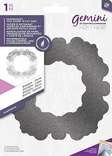 Gemini Foil Stamp N Cut Metal Die-Bretagna Frame, Silver