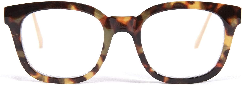 FEISEDY Classic Square Blue Light Blocking Glasses Women Men, Reduce Eyestrain, Computer Glasses B2646