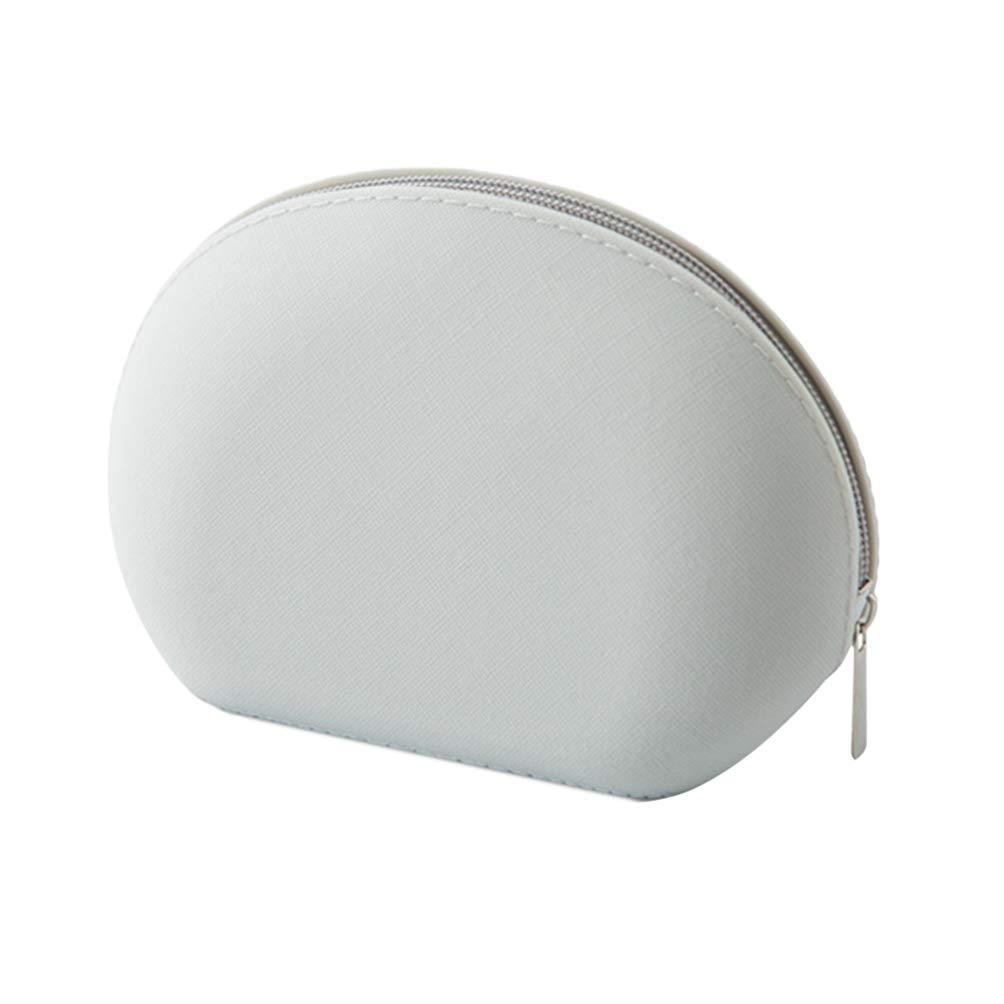 TOPBATHY Fashion Silicone Makeup Bag Waterproof Shell Bag Coins Storage Bag Cosmetics Organizer (Grey)