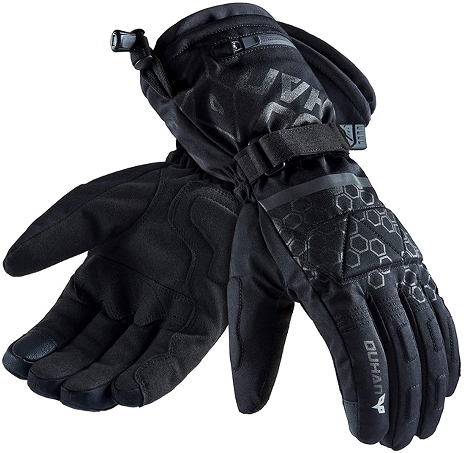Heated Gloves with Rechargeable Battery,Waterproof Electric Heated Motorcycle Gloves for Outdoor