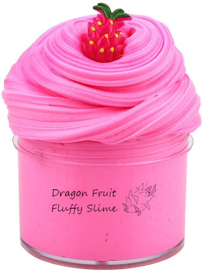 Boflower Cloud Slime, Sensory Fidget Toys, Fluffy Slime for Kids, Stretchy, Super Soft, Non-Sticky Cotton Slime, Sludge Clay Toy Scented DIY Gifts for Adult Kids Boys Girls(Pink