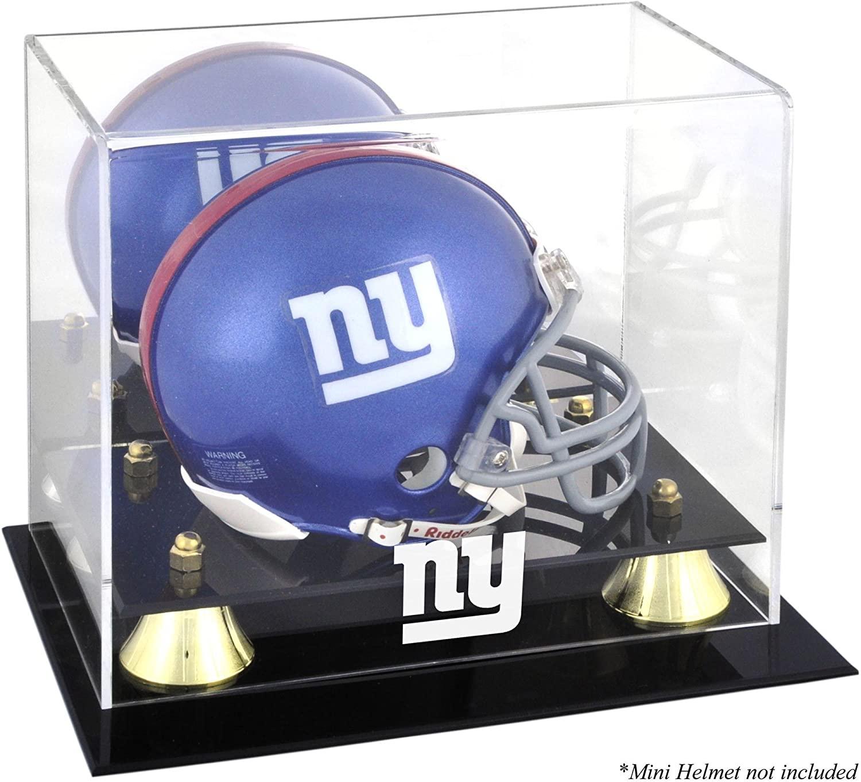 New York Giants Mini Helmet Display Case - Football Mini Helmet Free Standing Display Cases