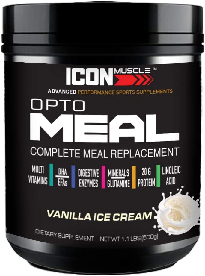 Icon Muscle Meal Replacement Powder | Vanilla | Healthy | Whey Protein Blend | Weight Loss | 1 lb