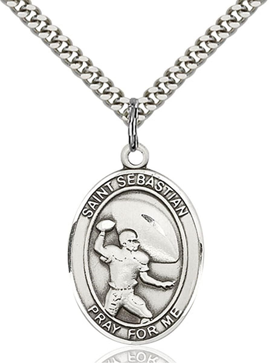 bliss Sterling Silver Catholic Saints Medal Pendant, 1 Inch