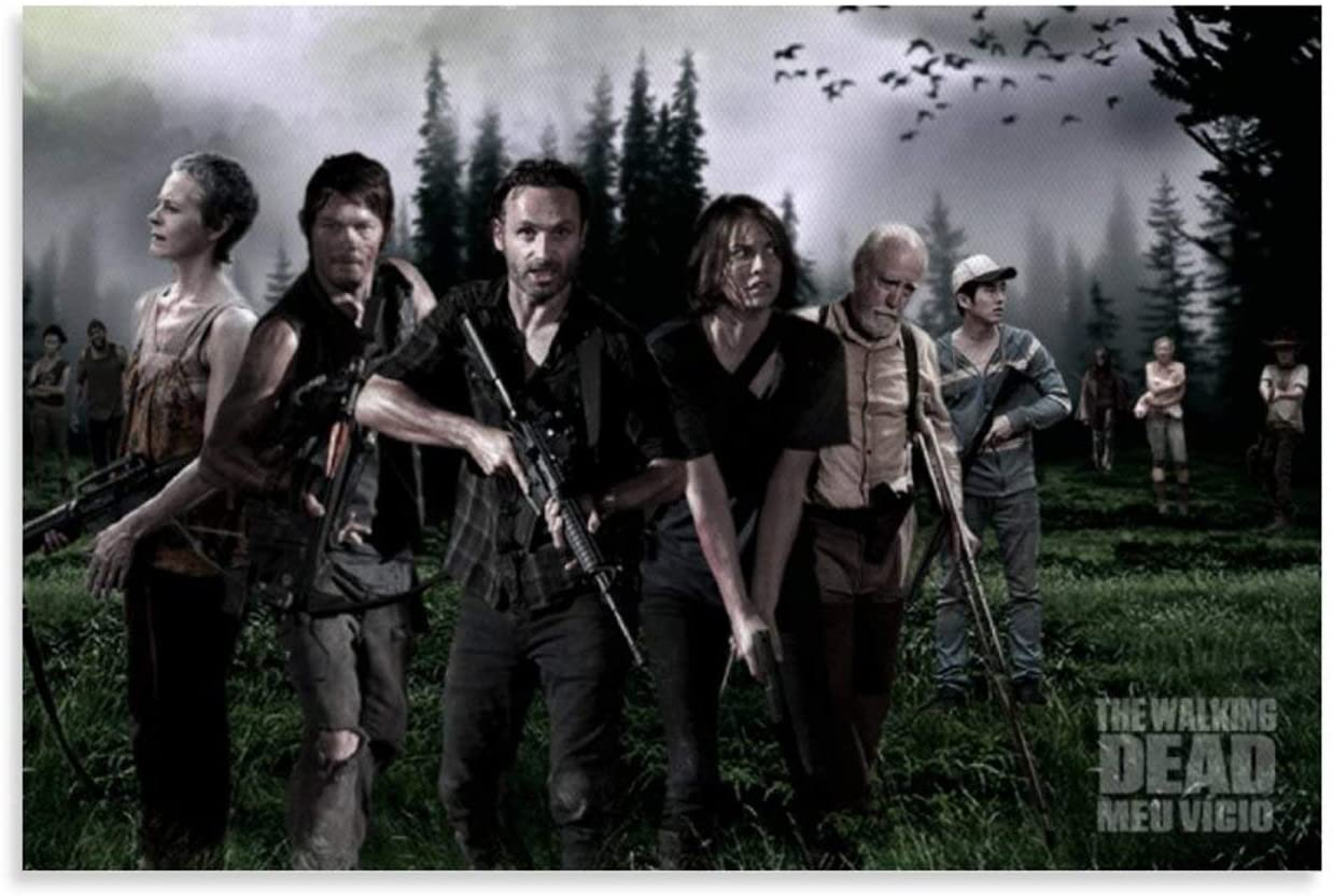 WUFENG The Walking Dead 37 Canvas Wall Art Canvas Art Poster and Wall/Art Picture Print Modern Family Bedroom Bathroom Decor Posters Water Proof Artwork 12x18inch(30x45cm)