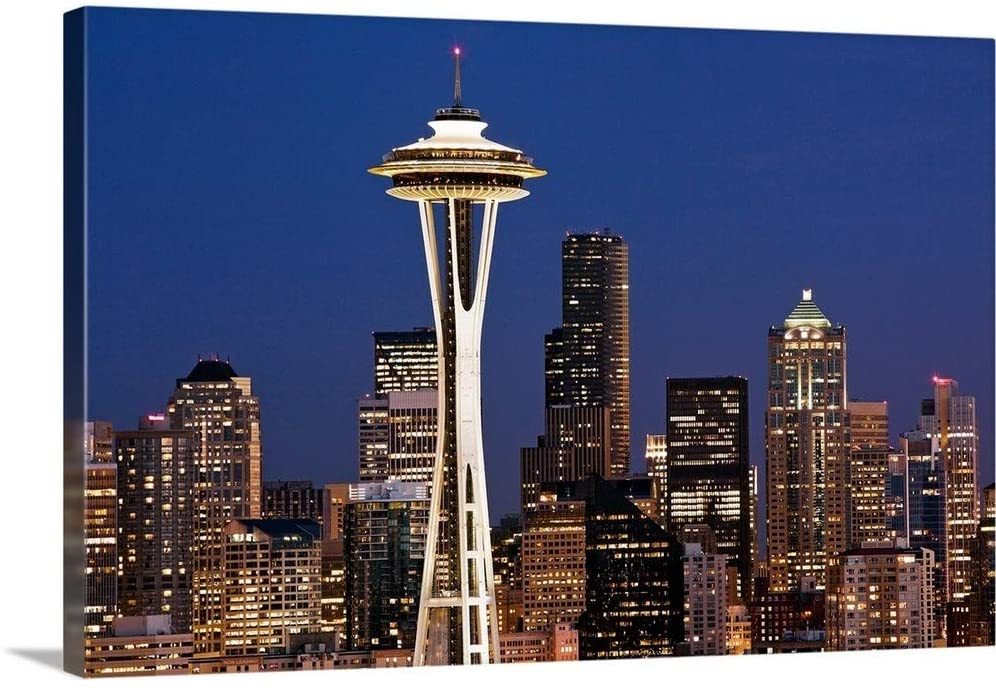 Space Needle I Canvas Wall Art Print, 30x20x1.25