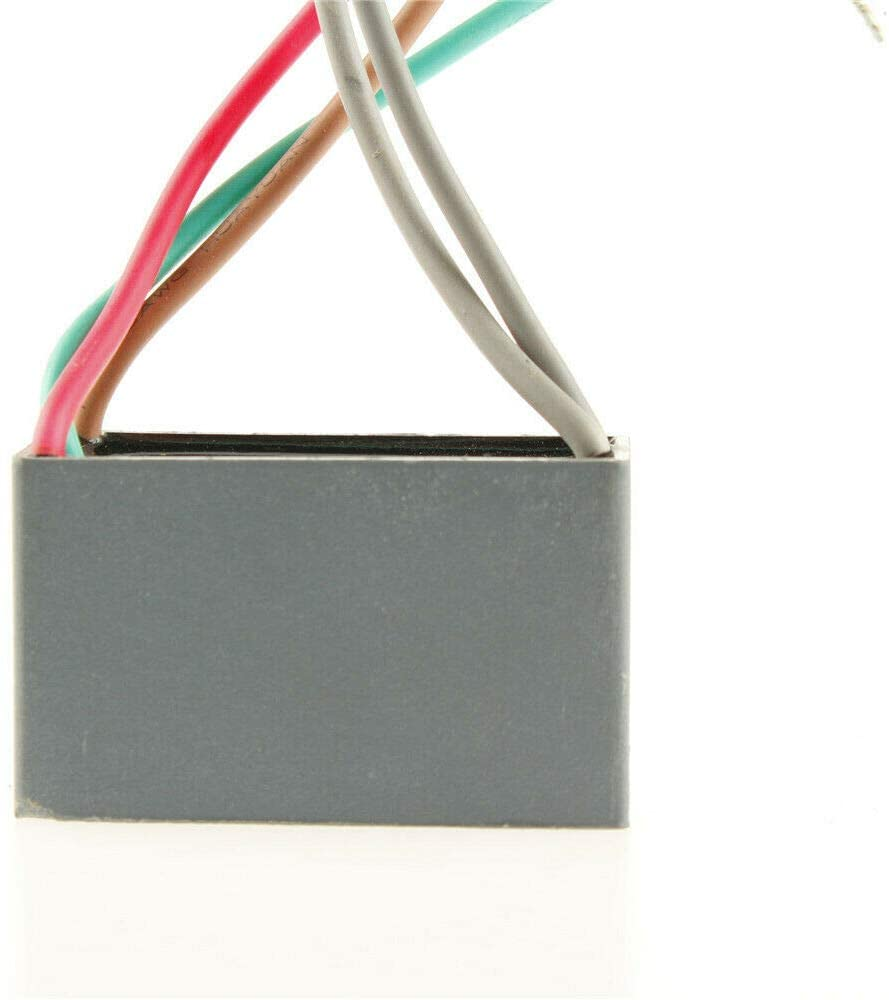 DBParts New for Ceiling Fan Capacitor CBB61 5uF+5uF+5uF 250V+250V 5 Wire