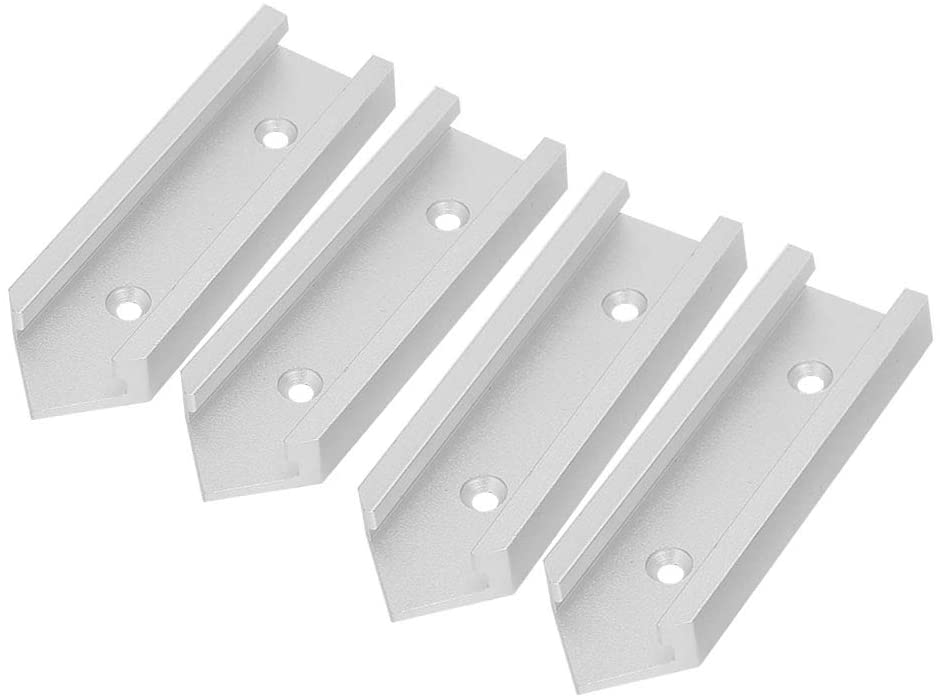 T-track Connector - 4 pcs T-track Connector Miter Track Jig Fixture Slot Connector For Router Table smooth sliding