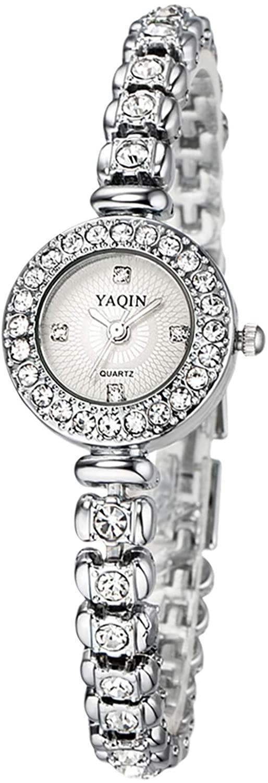 RORIOS Elegant Women Watch Bracelet Watches Analogue Quartz Watch Stainless Steel Strap Simulated Diamond Wristwatches for Girls Ladies