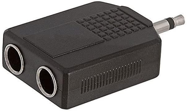 3.5mm Mono Plug to 2x6.35mm Mono Jack Adapter, 4 Pack
