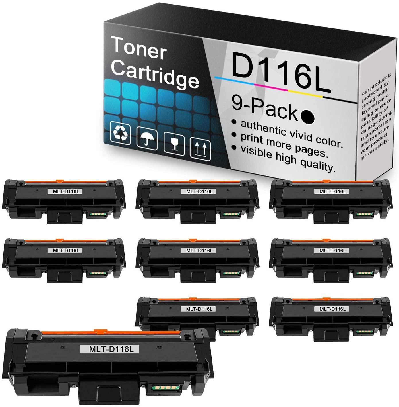 (9 Pack Black Toner Cartridge MLT-D116L) Compatible toner cartridge replacement for Samsung Xpress M2825DW M2825WN M2835 M2675FN M2676FH M2875FW M2875FD M2625D M2626 M288x M262x M267x Series printers.