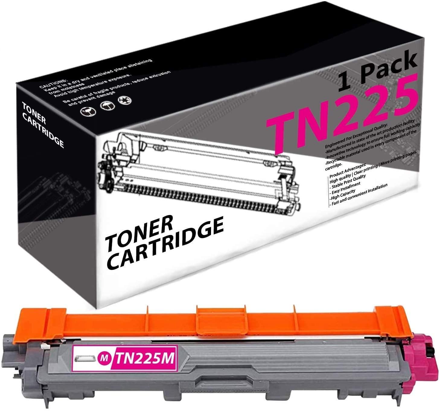 TN225(1 Pack-Magenta) Compatible Toner Cartridge Replacement for Brother MFC-9130CW 9140CDN 9330CDW 9340CDW HL-3140CW 3150CDN 3170CDW 3180CDW DCP-9015CDW 9020CDN Printers.