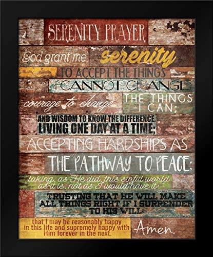 Serenity Prayer 20x24 Framed Art Print by Grey, Jace