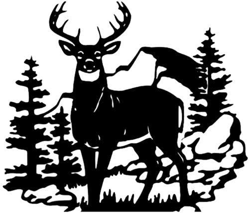 35.6X30.8Cm Fashion Deer Animal Vinyl Car Stickers Hunting Car Styling Door Decal