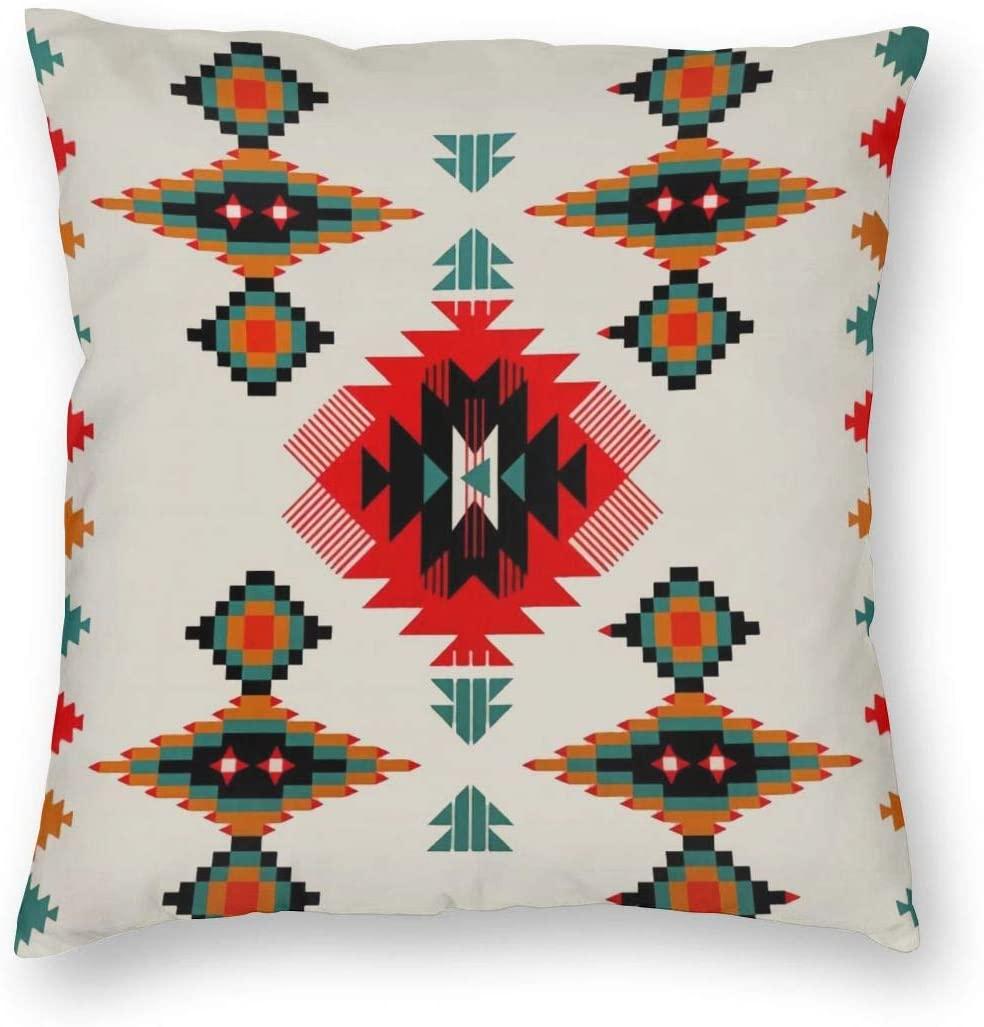 antcreptson Aztec Navajo Throw Pillow Decorative Pillow Case Home Decor Square 18x18 Inches Pillowcase