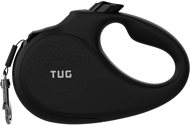 TUG 360° Tangle-Free Black Retractable Dog Leash