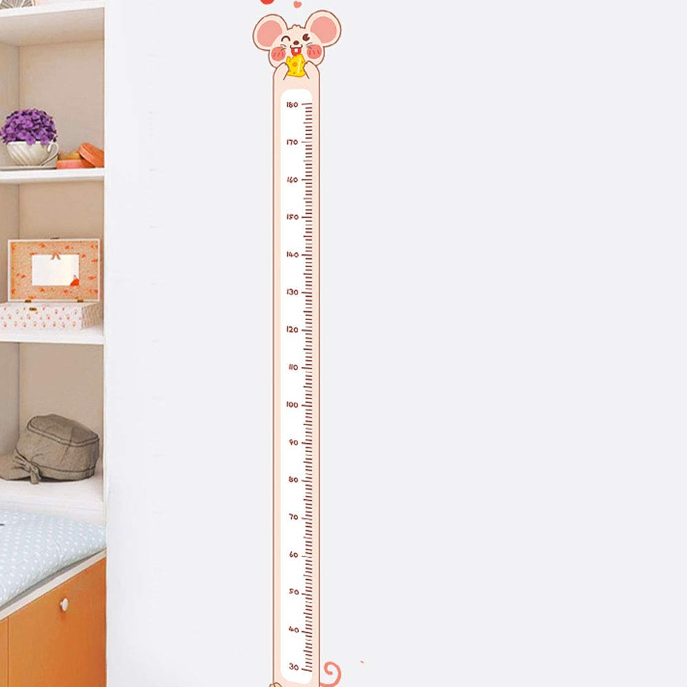 Idle Decormay Cute Cartoon Children's Height Sticker Height Growth Chart Wall Decals for Baby Nursery Children Boys Girls Bedroom Living Room Wall Decal(Rat£