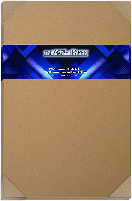 25 Brown Kraft Fiber 28/70# Text (NOT card/cover) Paper Sheets - 12