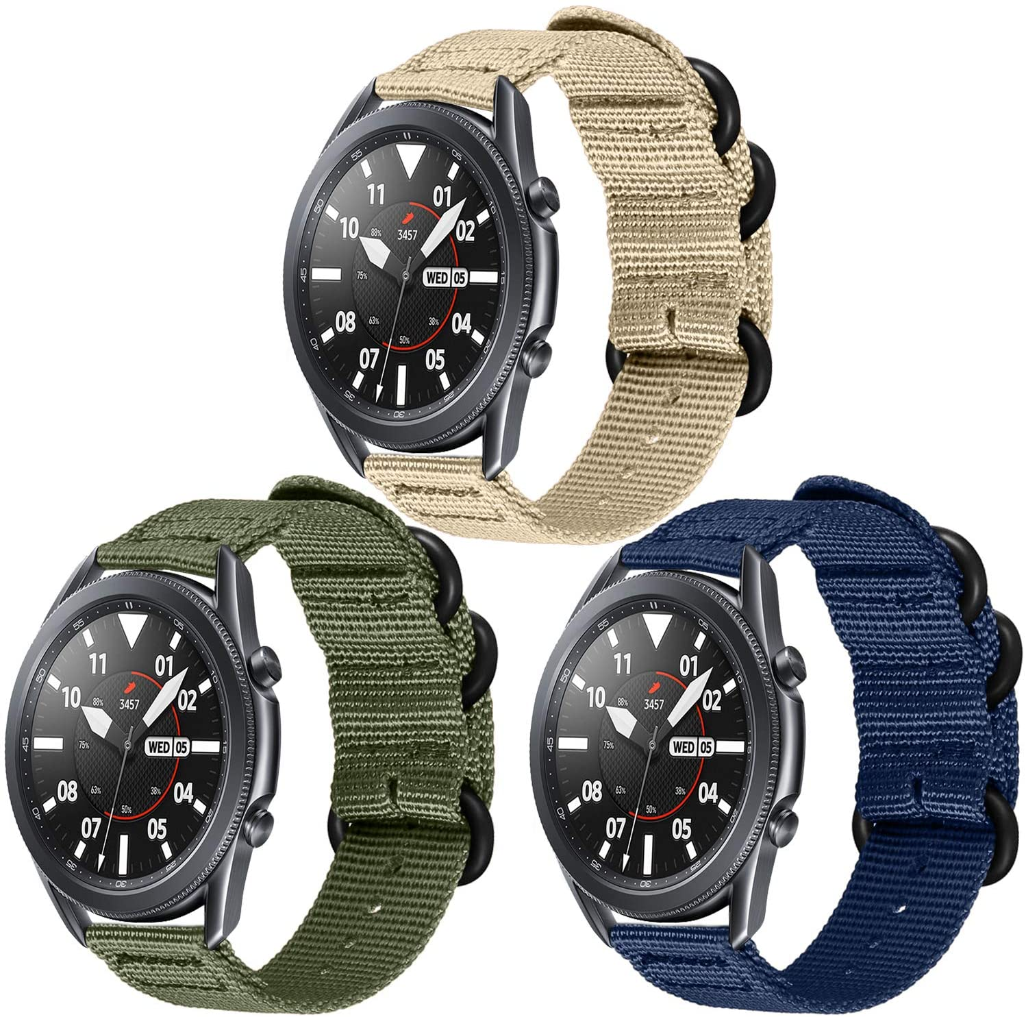 Stan Lee Bands Compatible with Gear S3/ Galaxy Watch 3 45mm / Galaxy Watch 46mm, 22mm Quick Release Adjustable Replacement Sport Strap Compatible with Frontier Smartwatch&Samsung Gear S3 Classic