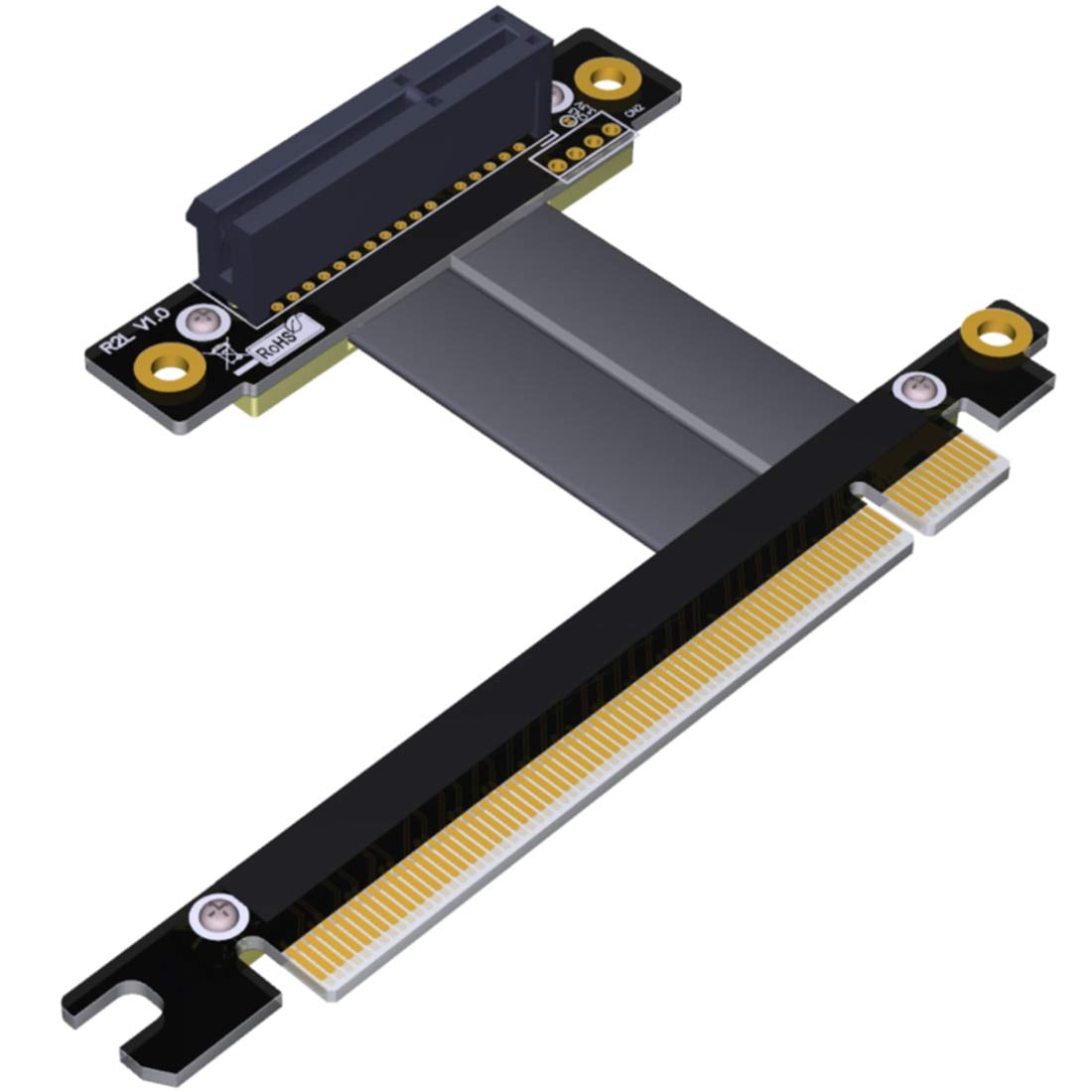 ADT-Link PCIe 3.0 X4 X8 Riser Extender for Gigabit Network Card Industrial SSD Pci-e 3.0 X4 X8 to X16 Extension PCI-Express 3.0 Cable (10cm,R32SF)