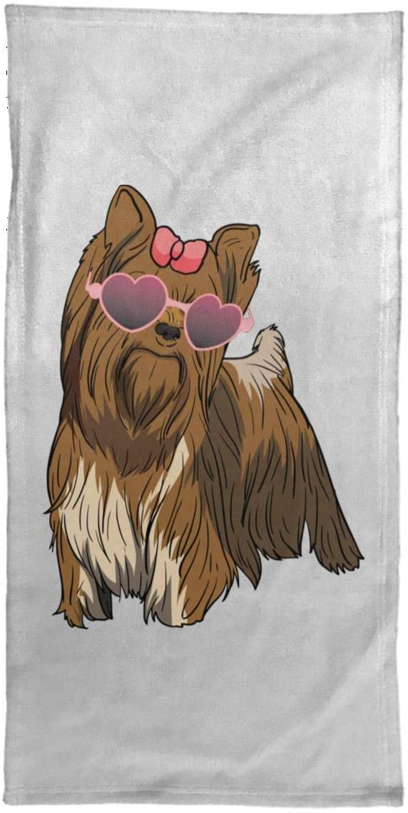 Weezag Yorkshire Terrier Dog Hand Towel, Gifts for Dog Lover Mom Dad 9168A