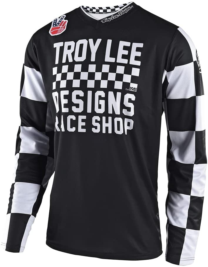 Troy Lee Designs Mens | Offroad | Motocross | Motorcycle | GP Checker Jersey (XX-Large, Black)