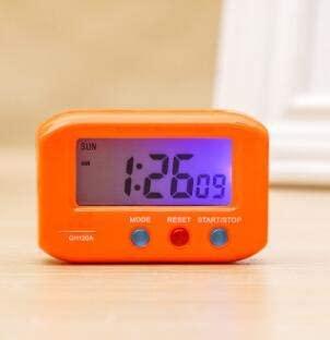 DERCLIVE Mini Digital Backlight LED Display Table Alarm Clock Snooze Calendar