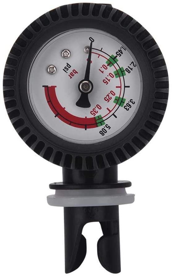 Samfox Kayak Accessories, Nylon Inflatable Boat Air Pressure Gauge Barometer for Kayak Raft Black