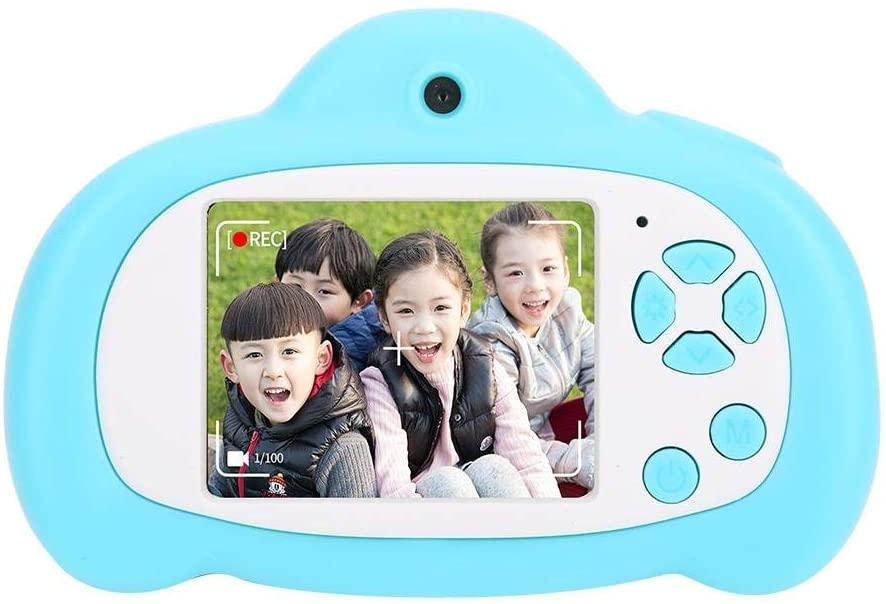 Pomya Kids Camera, 2 inch IPS HD Display Screen 1080P Cartoon Kids Camera Children Toy Cameras with Front and Rear Dual Cameras,Mini Camera(Blue)