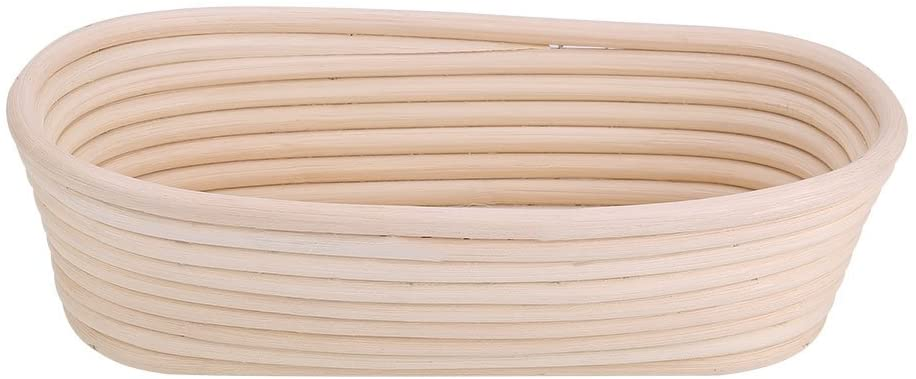 Haokaini Bread Proofing Basket,Manual Unbleached Natural Cane Bake Bowl Dough Gifts for Bakers Sourdough Bread Bakery Basket