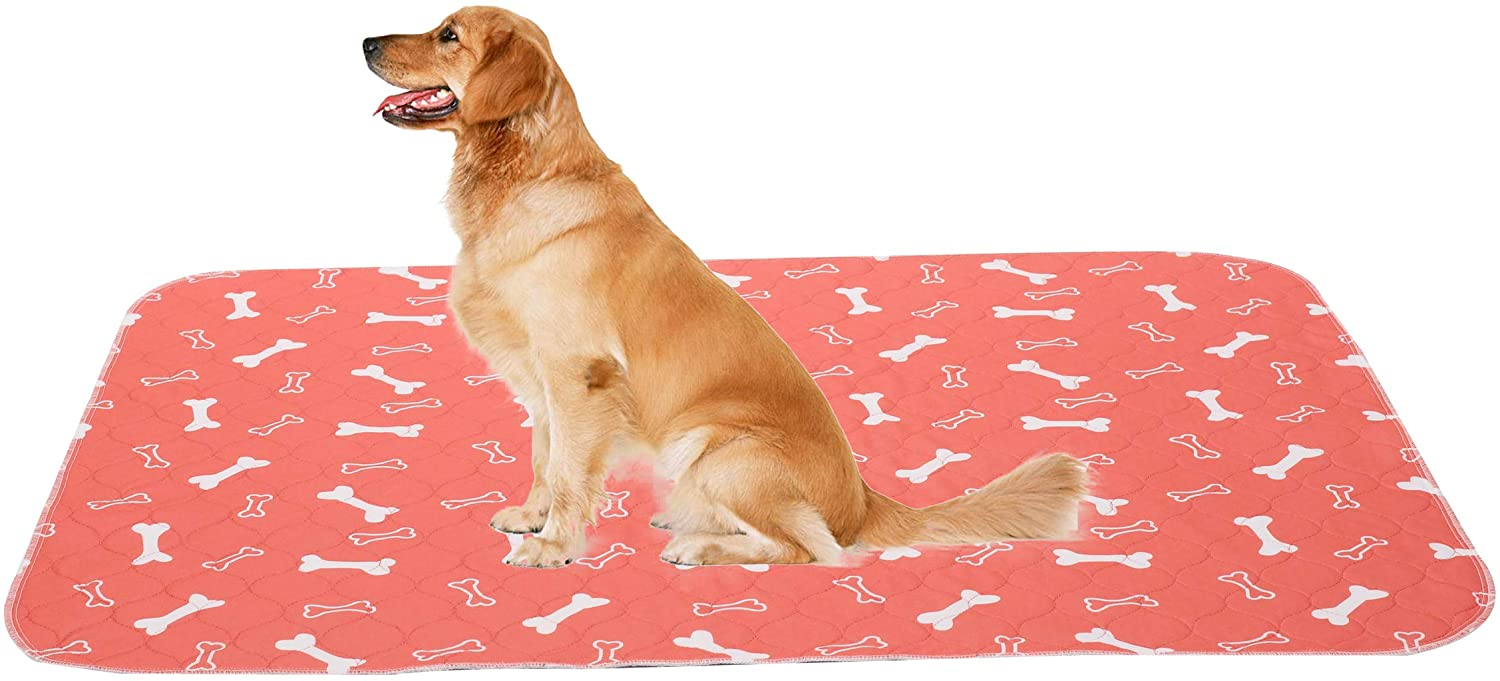 Brabtod Non-Slip Dog Pee Mat Crate Pad for Pets Dogs Foldable and Washable Dog Pads with Puppy Training Pads to Protect Floors, Car, Crate