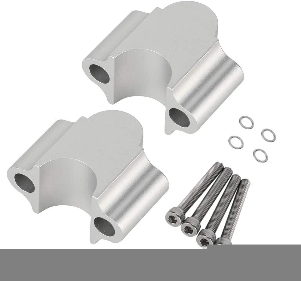Handbar Riser 7/8'' 22mm Aluminum Alloy Motorcycle Handbar Rising Clamp Comfortable Universal(Electroplate)