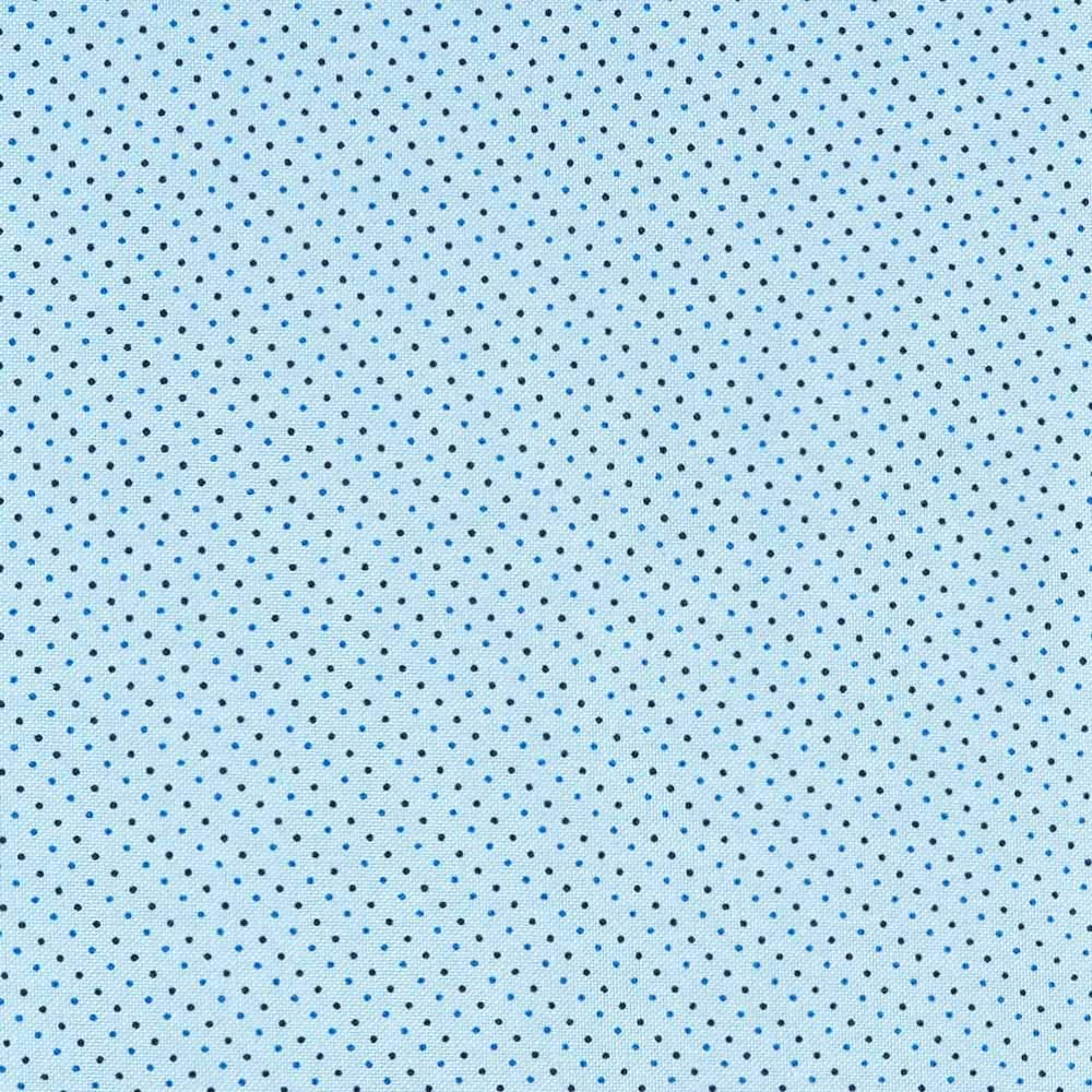 Dekoth -Cotton Fabric by The Yard 100% Cotton LightweightYard Dyed Printed Oxford Poplin Woven Quilting for DIY Crafting Patchwork Sewing, cuttable 56x39 in' (1.1 Yard) (Light Blue w/Blue Black Dots)