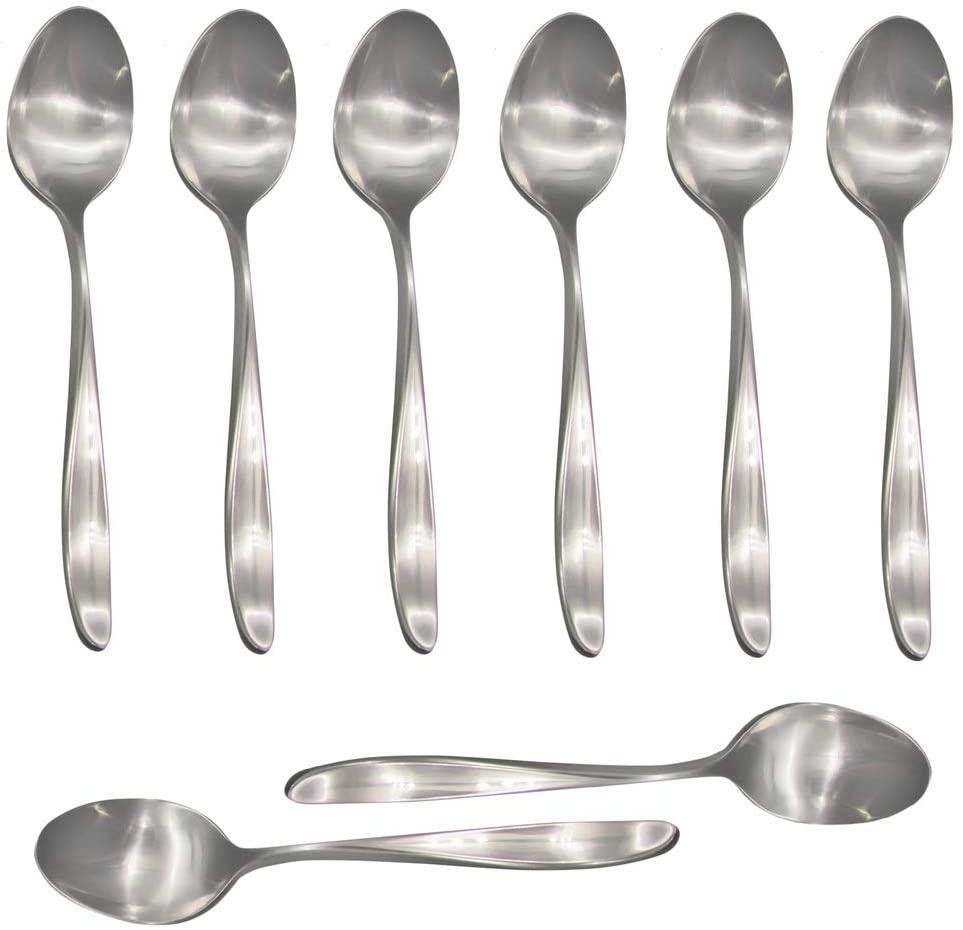 Lauffer Design 2 / Design II 18/8 Stainless Steel Teaspoon (Set of Eight)