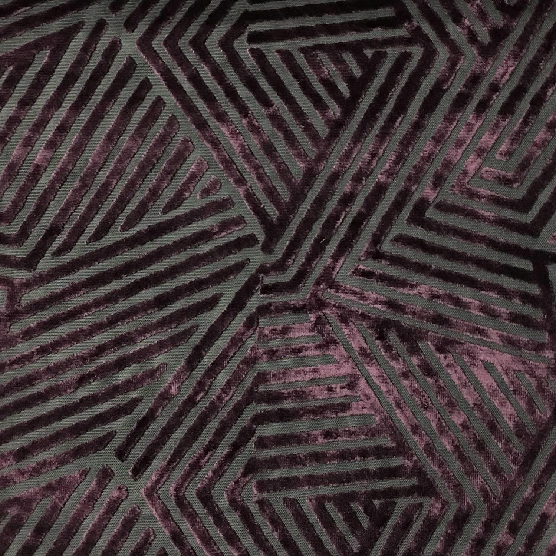 Aurora - Geometric Burnout Velvet Upholstery Fabric by The Yard -Each Quantity=1 Yard