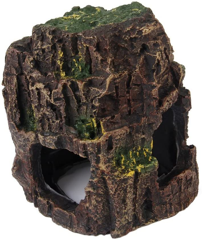 UEETEK Aquarium Fish Tank Ornament Landscape Cave