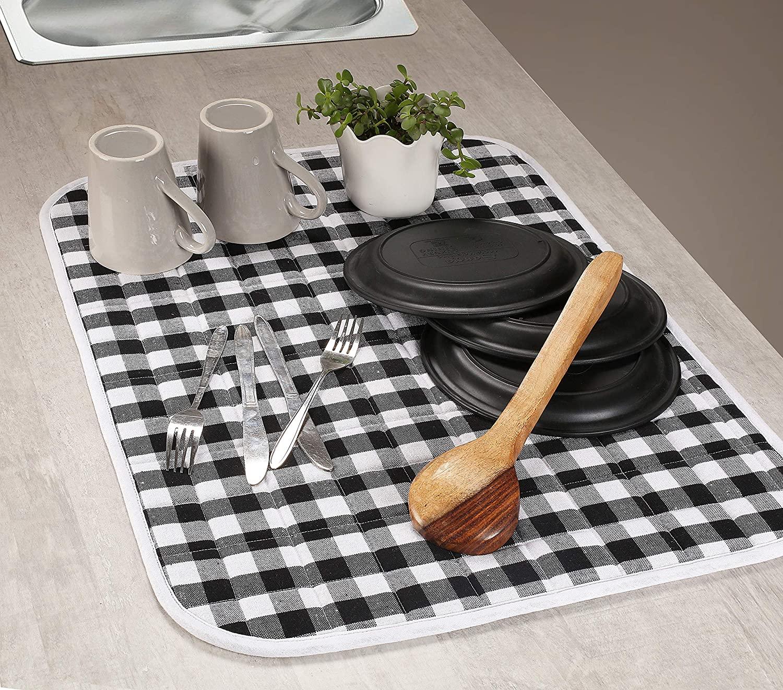 2-Piece Dish Drying Mat Set Extra Large 18