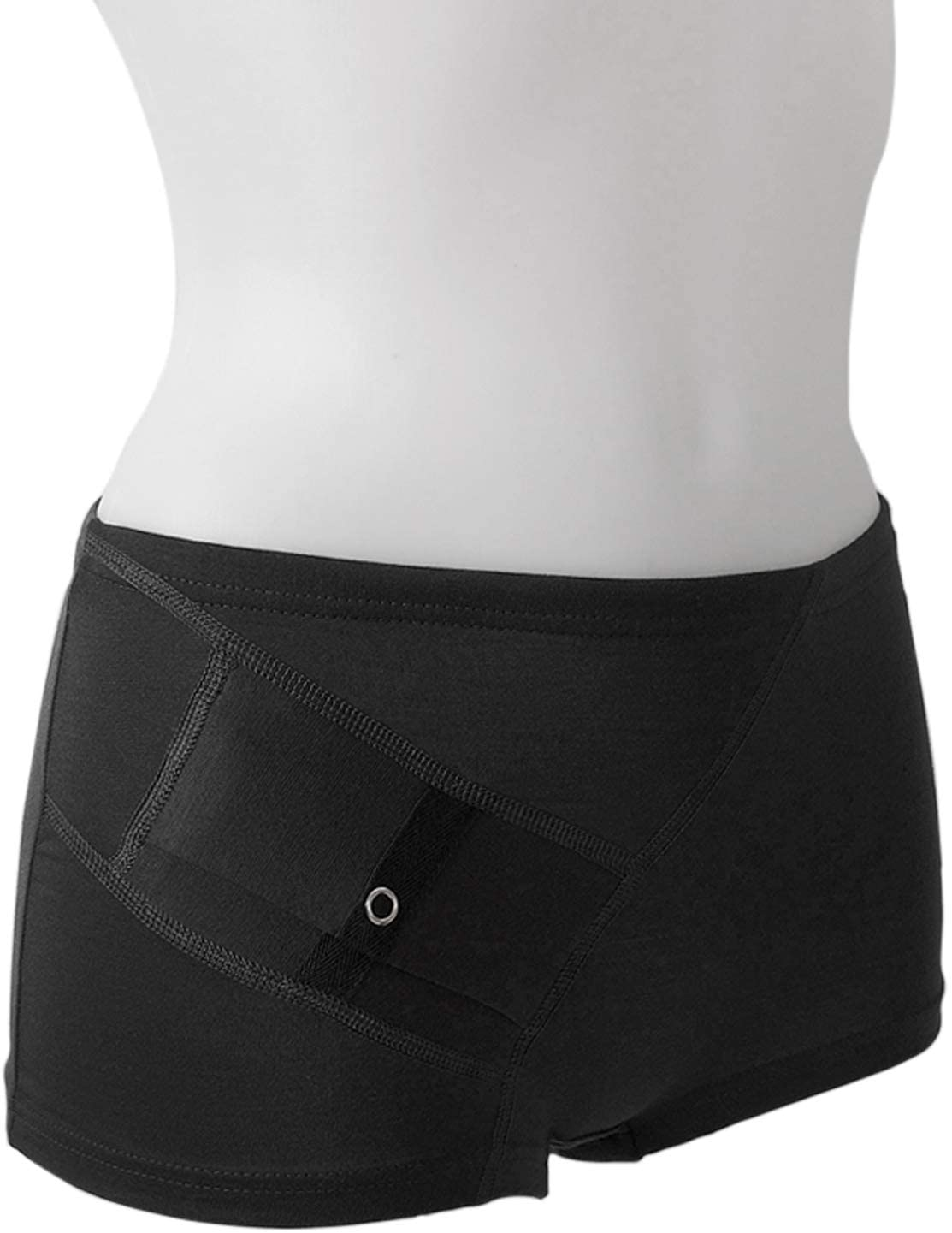 AnnaPS Diabetes Women's Small Hipster Panties Underwear with Pocket for Insulin Pump (S)