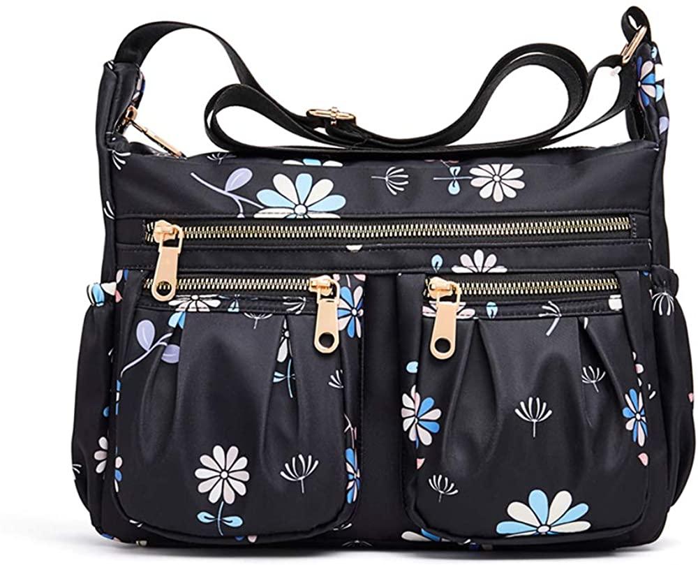 Crossbody Bags for Women,SHINON Multi Pocket Shoulder Bags, Lightweight Nylon Waterproof Casual Travel Purse Messenger Bags.