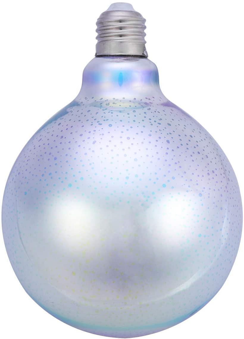 Vintage Colorful 3D Fireworks Light Bulb Decorative LED Bulb Lamp Starry Light for Christmas Holiday Home Living Dining Room Decoration E27 Medium Screw Base G125 Shape