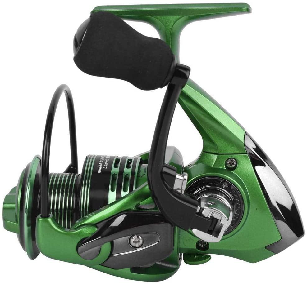 Enrilior Aluminium Alloy 13+1 Bearings Interchangeable Left/Right Hand Spinning Reel Long Shooting Sea Fishing Wheel Tackle Accessory